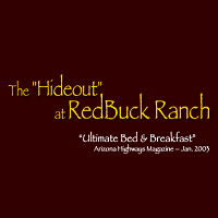 redbuck ranch best bed &breakfast; in az